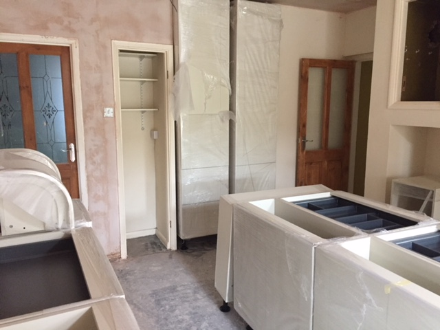 Delivered kitchen ready to fit