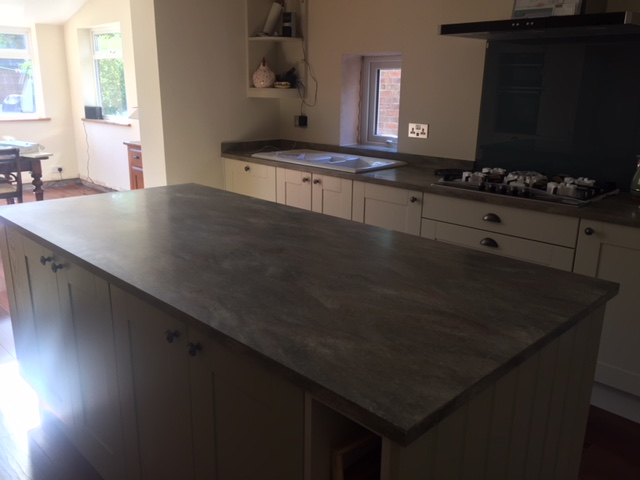 Corian tops fitted