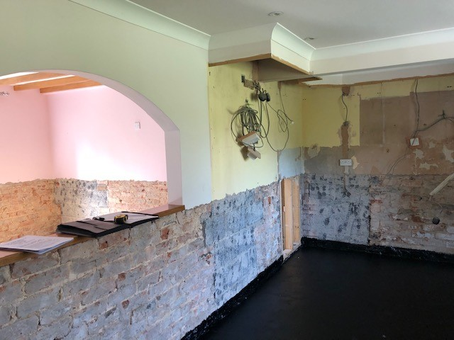 OLD KITCHEN TAKEN OUT