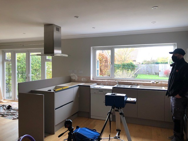 FITTED KITCHEN TEMPLATING FOR QUARTZ
