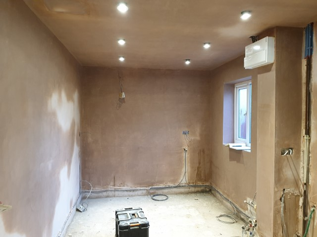 Kitchen Plastered