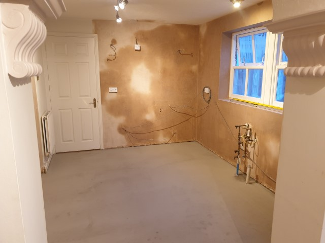 PLASTERED AND FLOOR SCREEDED