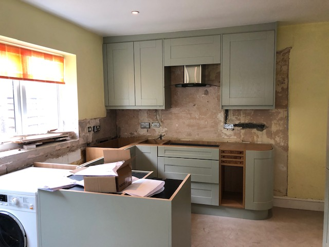 Fitted kitchen ready for quartz tops
