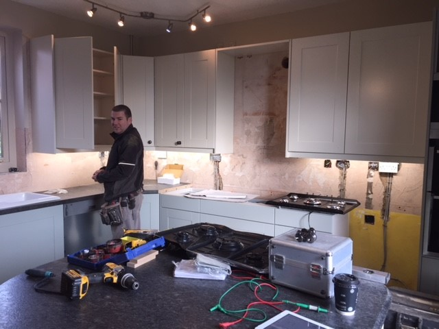 New Kitchen Getting Fitted