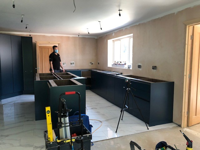 TEMPLATING FOR QUARTZ WORKTOPS